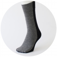 % SOCKS BLOCK  Black 50% Gray 50%