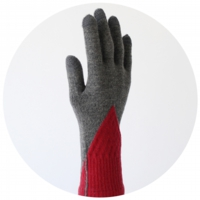 % GLOVES BLOCK Dark Gray 70% Red 30%