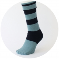 % SOCKS STRIPE Black 60% Mint green 40%