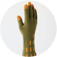 % GLOVES LINE Green 90% Orange 10%
