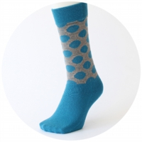 % SOCKS DOT Blue 90% Gray 10%