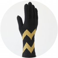 % GLOVES LINE Black 70% Yellow 30%