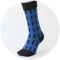 % SOCKS  LINE  Blue 60% Black 40%