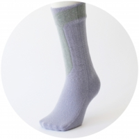 % SOCKS  LINE  Purple 80% Gray 20%