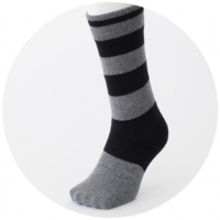 % SOCKS STRIPE Brack 60% Gray 40%