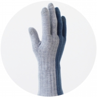 % GLOVES BLOCK Blue 50% Gray 50%