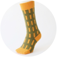 % SOCKS  LINE Green 60% Orange 40%