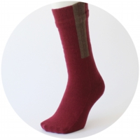 % SOCKS  LINE  Wine red 90% Brown 10%