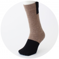 % SOCKS BLOCK Brown 70% Black 30%