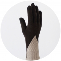 % GLOVES BLOCK Dark brown 70% Beige 30%
