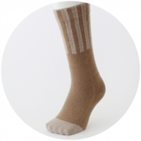 % SOCKS STRIPE Brown 70% Beige 30%