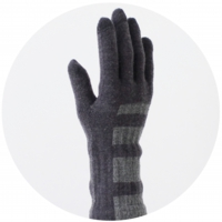 % GLOVES STRIPE Navy 60% Gray 40%