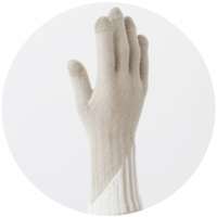 % GLOVES STRIPE Beige 90% White 10%