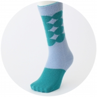 % SOCKS DOT Blue 50% Green 50%