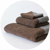 % TOWEL BLOCK  Gray 50% Brown 50%