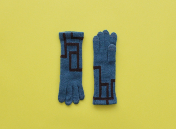 % GLOVES CONNECT – Smokey blue 90% Brown 10%