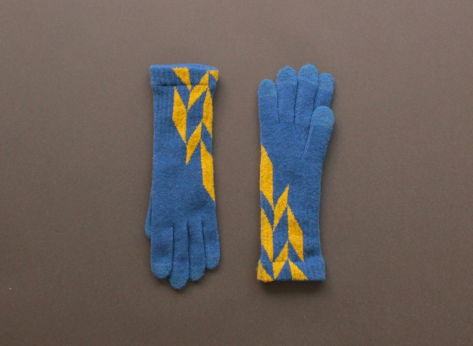 % GLOVES POLYGON Blue 70% Yellow 30%