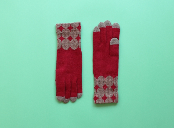 % GLOVES DOT Red 70% Brown 30%