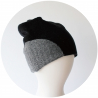 % KNIT CAP BLOCK Black 90% Gray 10%