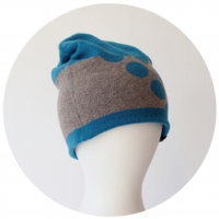 % KNIT CAP DOT Blue 80% Gray 20%