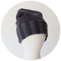 % KNIT CAP STRIPE Navy 80% Gray 20%