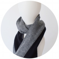 % SCARF BLOCK Gray 50% Black 50%