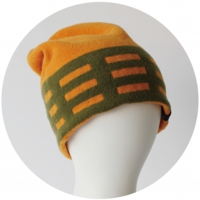 % KNIT CAP LINE Orange 70% Green 30%