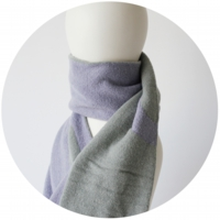 % SCARF LINE Purple 50% Gray 50%