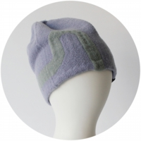 % KNIT CAP LINE Purple 90% Gray 10%