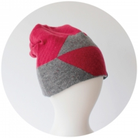 % KNIT CAP BLOCK Red 80% Gray 20%
