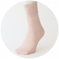 % SOCKS  CONNECT Pink 90%  Bage 10%
