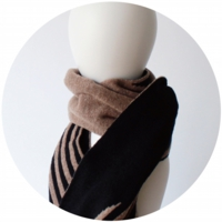 % SCARF STRIPE Brown 50% Black 50%