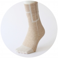 % SOCKS  CONNECT Brown 90% Beige 10%