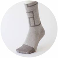 % SOCKS  CONNECT Light gray 90% Gray 10%