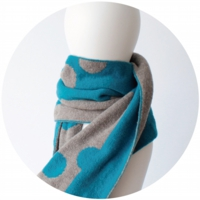 % SCARF DOT Blue 50% Gray 50%