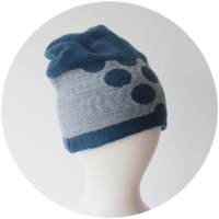 % KNIT CAP DOT Blue 80% Light blue 20%