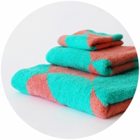 % TOWEL DOT  Green 50% Pink 50%