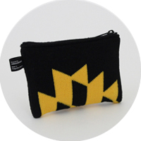 % POUCH POLYGON Black 70% Yellow 30%