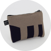% POUCH STRIPE Beige 70% Purple 30%