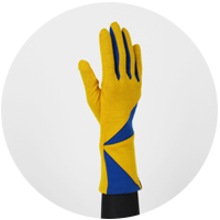 % Jersey Gloves POLYGON Yellow 80% Blue 20%
