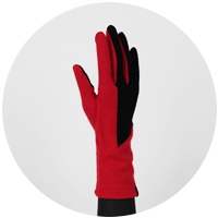 % Jersey Gloves POLYGON Red 90% Black 10%