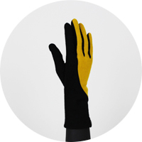 % Jersey Gloves BLOCK Black 80% Yellow 20%