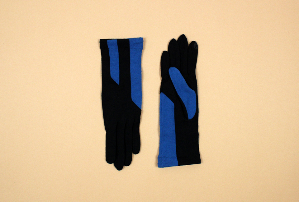 % Jersey Gloves LINE Black 80% Blue 20%