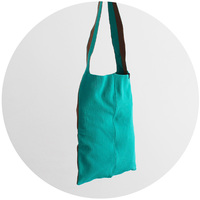 % SHOULDER BAG BLOCK Green 50% Brown 50%