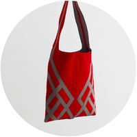% SHOULDER BAG CROSS Red 80% Gray 20%