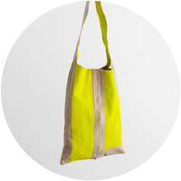 % SHOULDER BAG CONNECT Yellow 70% Beige 30%