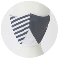 % COOL MASK STRIPE Gray 60% White 40%