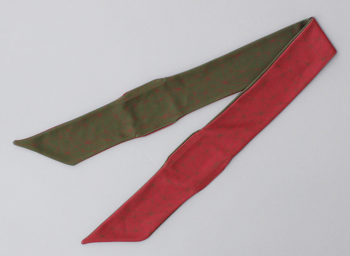 % COOL SCARF POLYGON Dark red 50% Khaki 50%