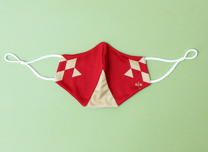% COOL MASK POLYGON Red 70% Beige 30%