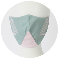 % COOL MASK CROSS Light green 70% Light pink 30%